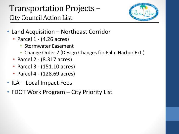 Transportation Projects –