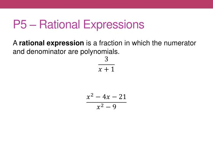 P5 rational expressions