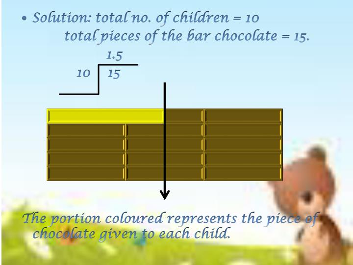 Solution: total no. of children = 10
