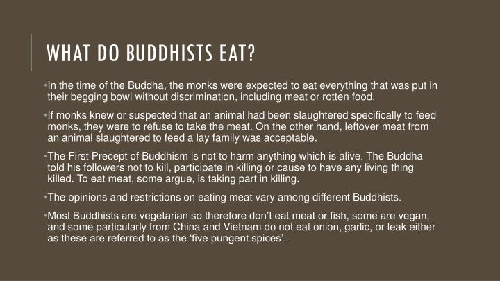 What do Buddhists eat?