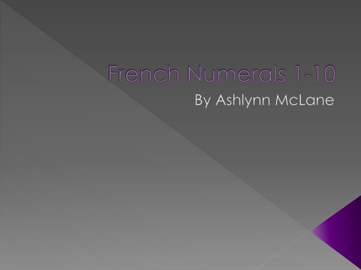 French numerals 1 10
