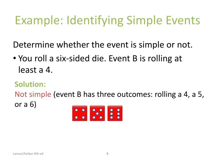 Example: Identifying Simple Events