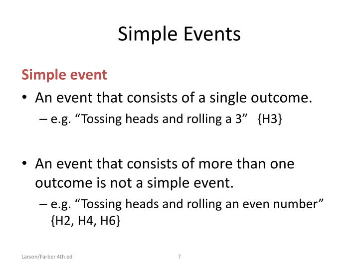 Simple Events
