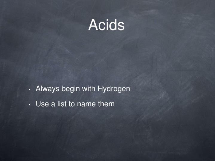 Acids