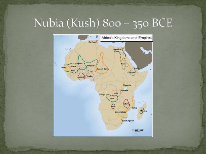 Nubia kush 800 350 bce