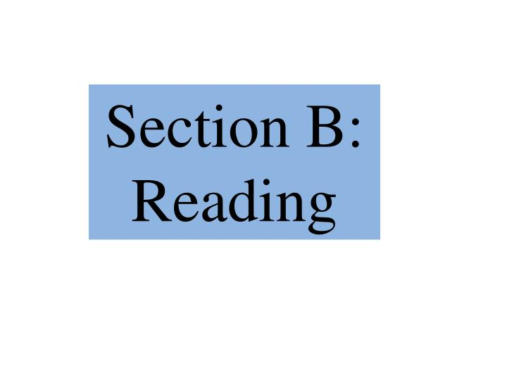 Section B: Reading