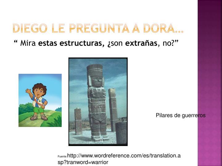 Diego le pregunta a Dora…