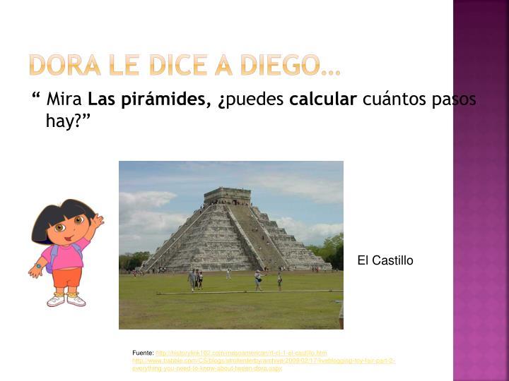 Dora le dice a Diego…
