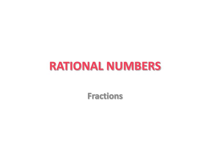 rational numbers n.