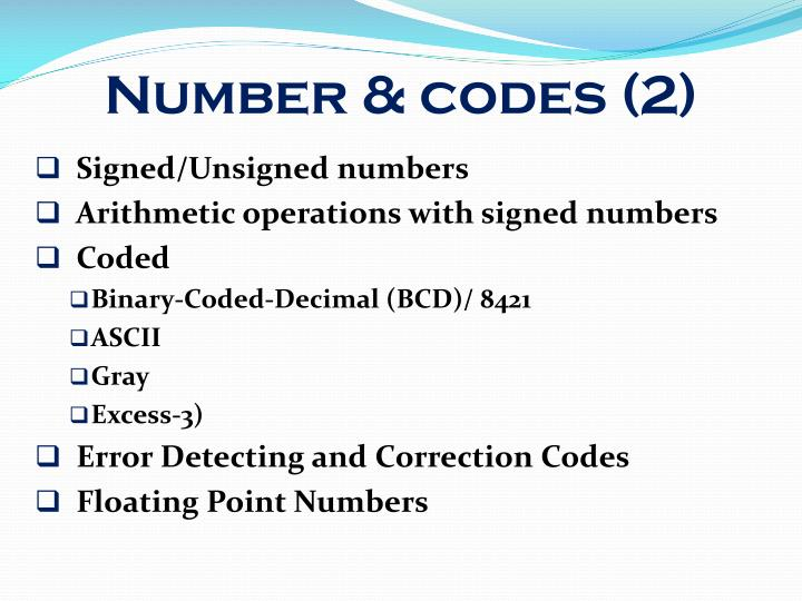 Number & codes (2)