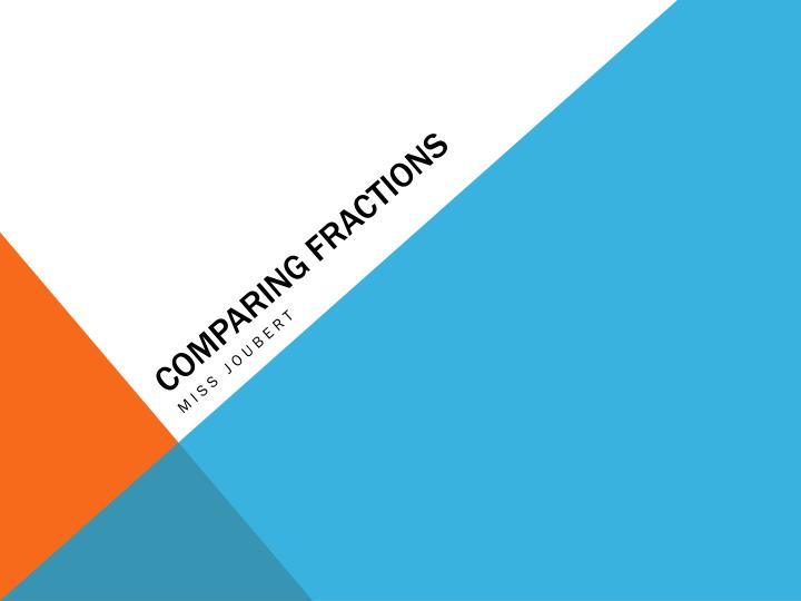 comparing fractions n.