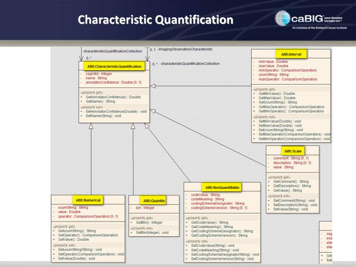 Characteristic Quantification