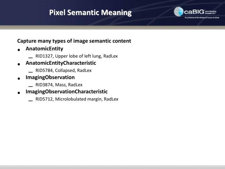 Pixel Semantic Meaning