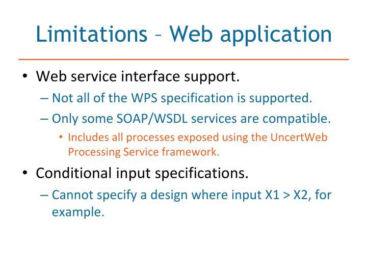 Limitations web application1