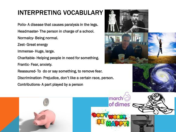 Interpreting vocabulary
