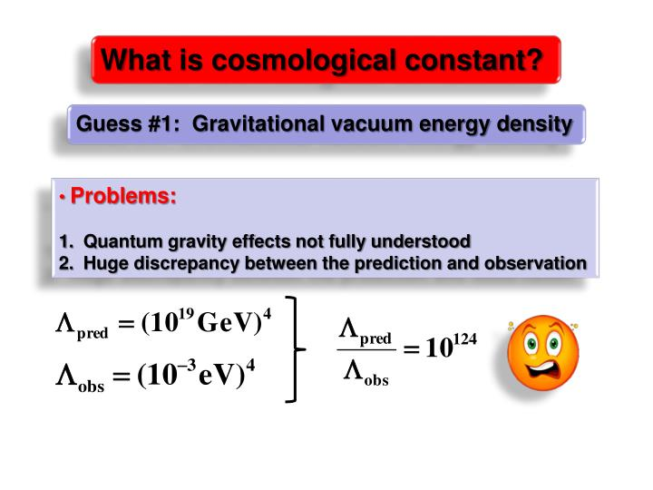 What is cosmological constant?