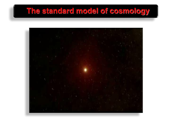 The standard model of cosmology