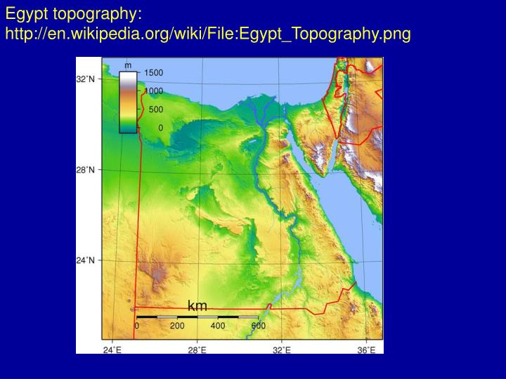 Egypt topography: http://