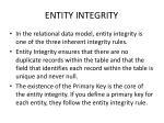 entity integrity