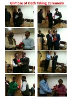 glimpse of oath taking ceremony