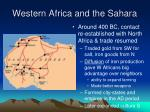 western africa and the sahara1