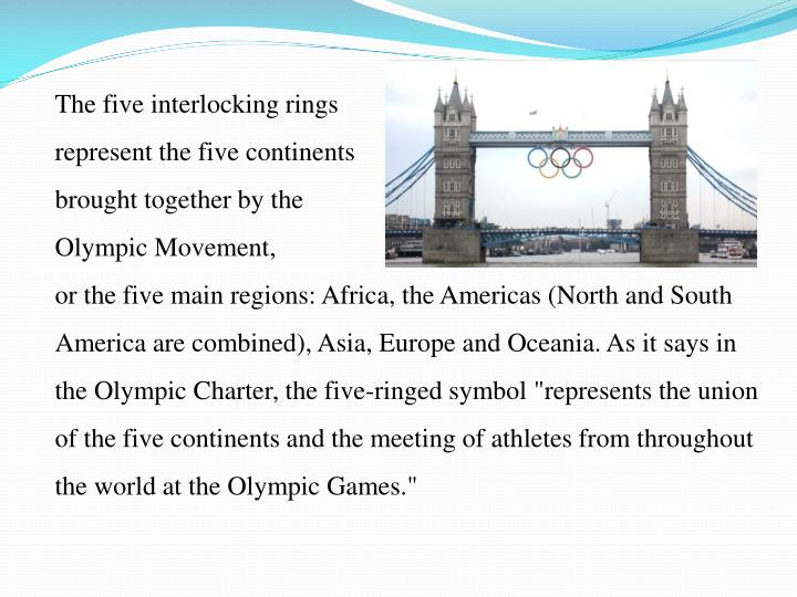The five interlocking rings