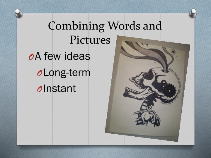 Combining words and pictures