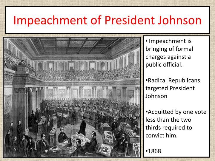 Impeachment of President Johnson