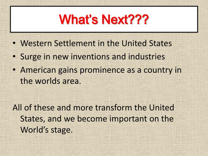 What's Next???