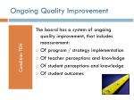 ongoing quality improvement