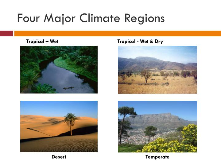 Four Major Climate Regions