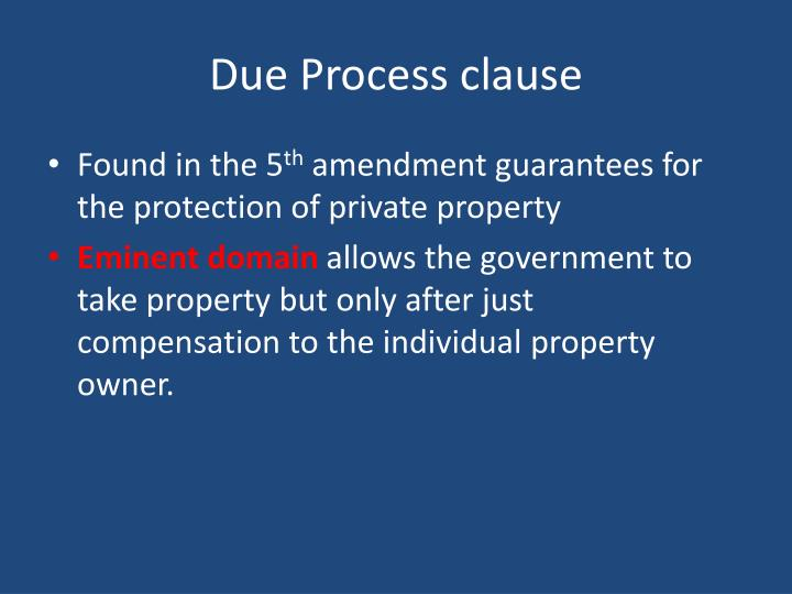 Due Process clause