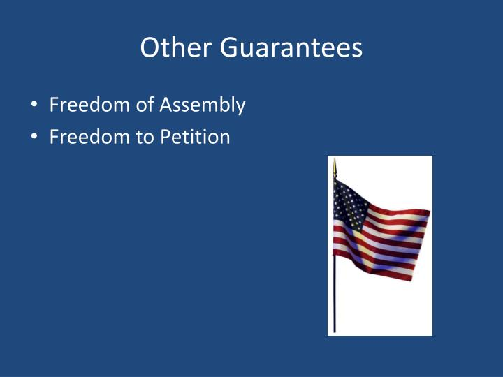Other Guarantees