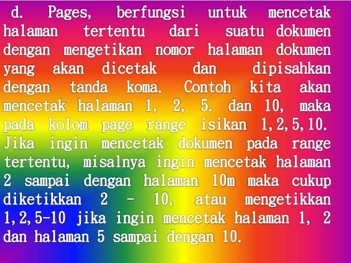 d.  Pages,