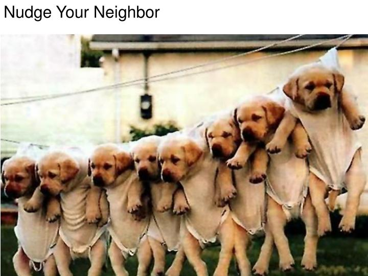 Nudge Your Neighbor