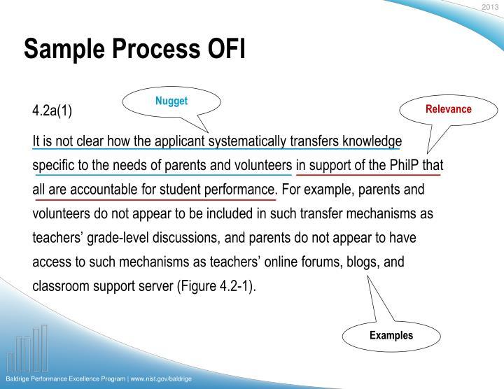 Sample Process