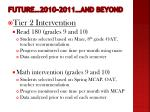 future 2010 2011 and beyond4