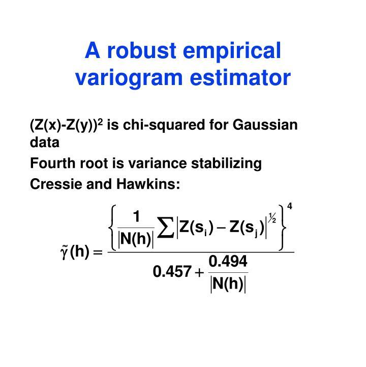 A robust empirical variogram estimator