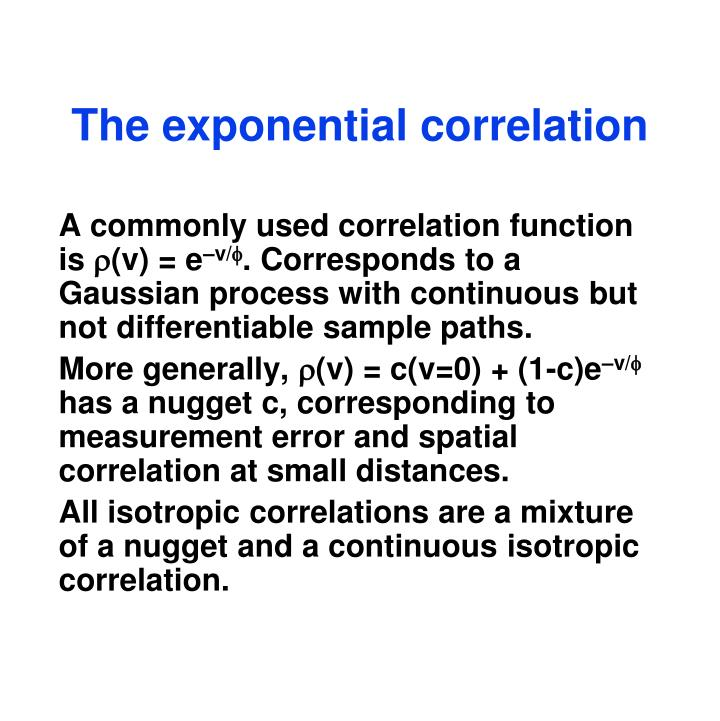 The exponential correlation