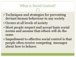 what is social control