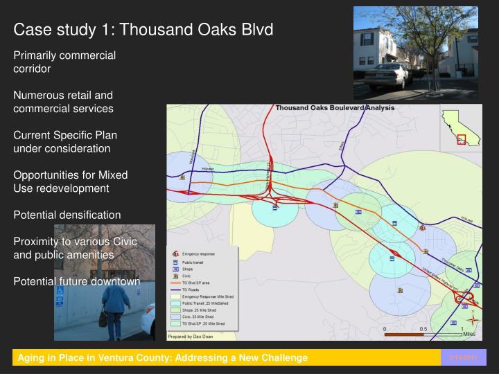 Case study 1: Thousand Oaks Blvd