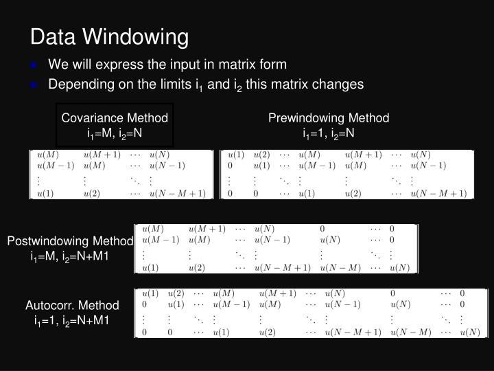 Data Windowing