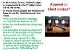 appoint or elect judges