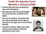 inside the supreme court miranda v arizona 1966