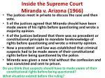 inside the supreme court miranda v arizona 19663