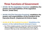 three functions of government