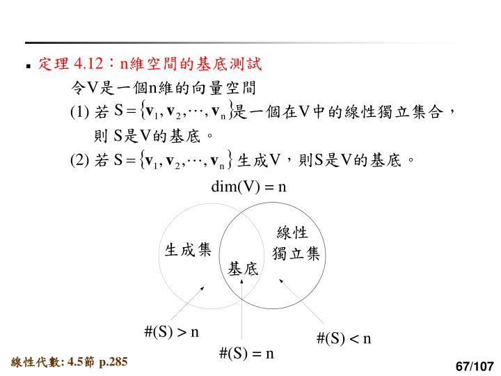 dim(V) = n