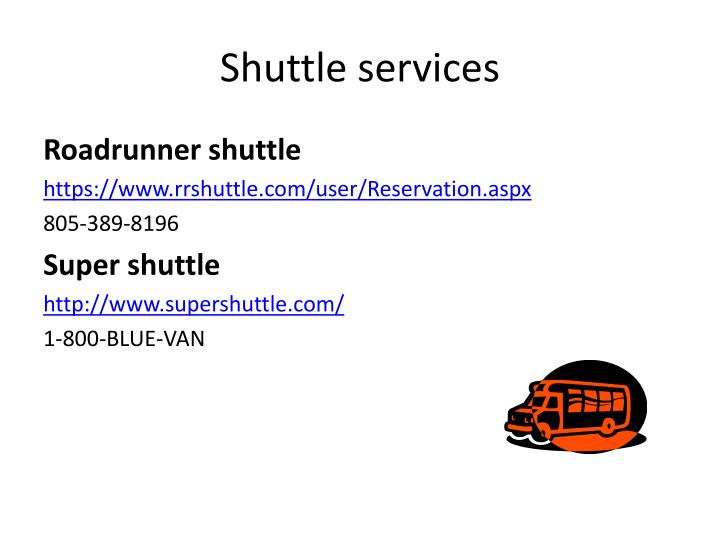 shuttle services n.