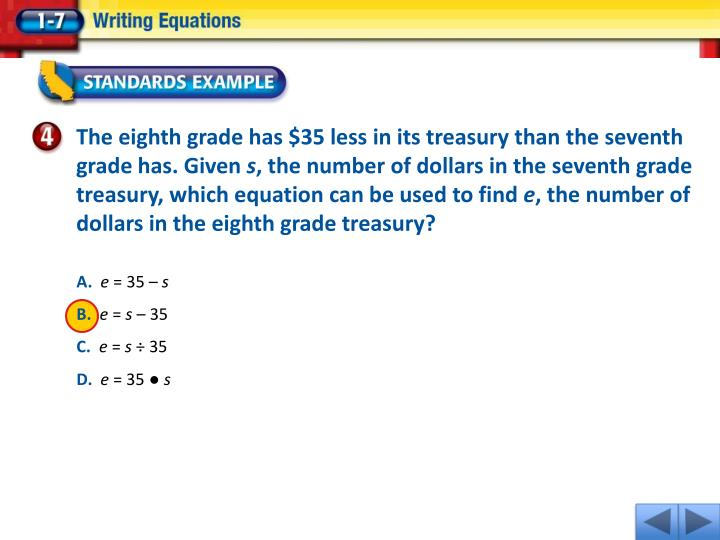 The eighth grade has $35 less in its treasury than the seventh grade has. Given
