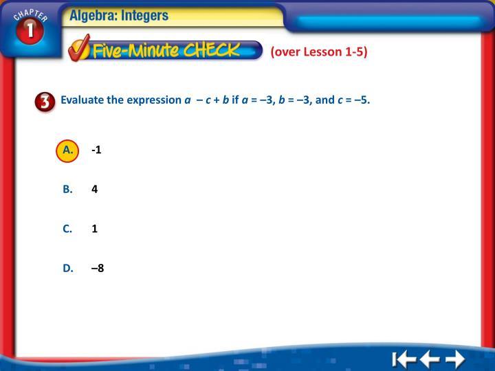 (over Lesson 1-5)